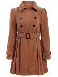 Wool Long Skirted Long Trench Coat
