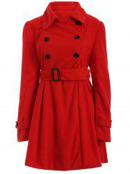 Wool Long Skirted Trench Coat