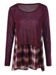 Plaid Trim Tee -
