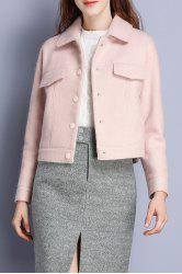 Short Wool Blend Coat