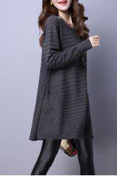 Big Pockets Trapeze Knitted Jumper Dress -