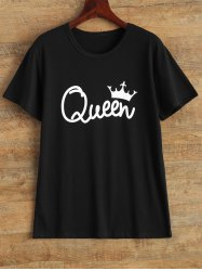 Streetwear Jewel Neck Queen Crown T Shirt