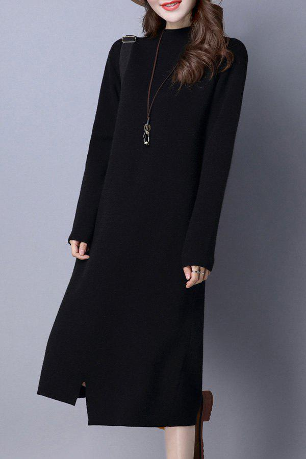 Buy Mock Neck Shift Sweater Dress