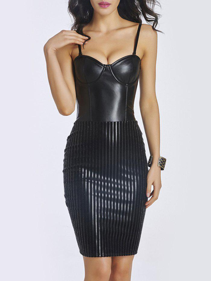 Best Faux Leather Bodycon Short Corset Dress