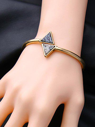 Cheap Vintage Natural Stone Triangle Bracelet