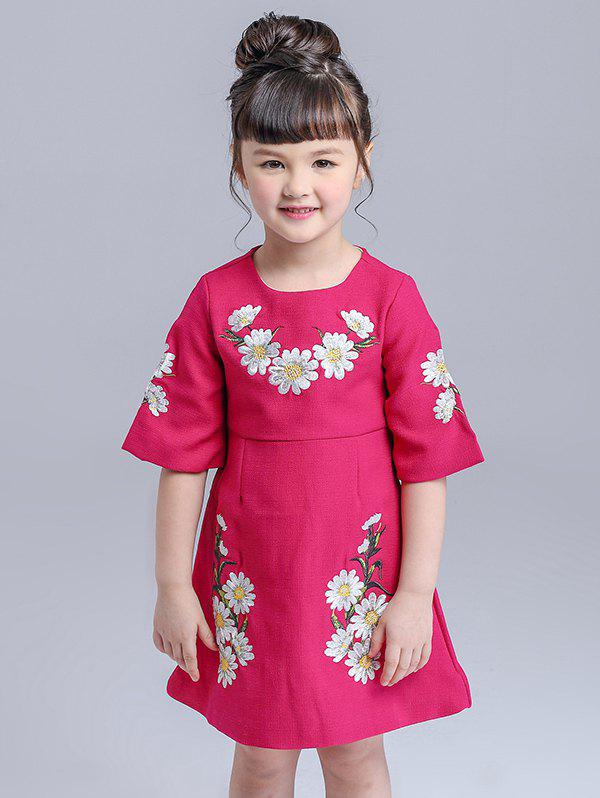 Best Kids Floral Embroidered Mini Dress
