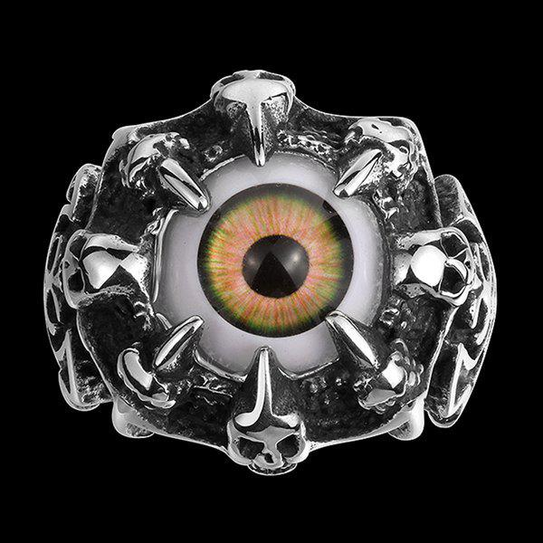 Skull Eye Claw Alloy RingJEWELRY<br><br>Size: 9; Color: SILVER; Gender: For Men; Metal Type: Alloy; Style: Punk; Shape/Pattern: Skull; Weight: 0.0300kg; Package Contents: 1 x Ring;