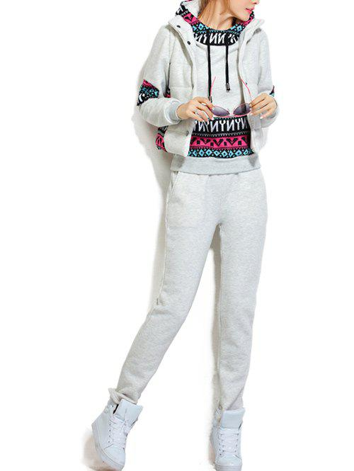 Outfits Fleece Pocket Hoodie and Vest With Track Pants Set