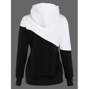 Two Tone Plus Size Jumper Hoodie - BLACK 5XL
