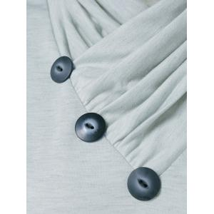 Inclined Sweatshirt Button - Gris Clair M
