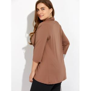 Slimming Drawstring Asymmetric Jacket -