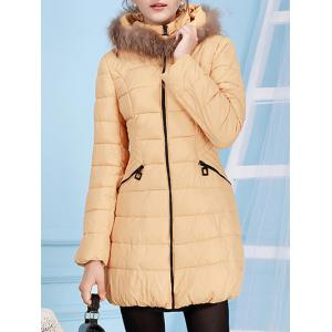Fur Hooded Collar Down Jacket