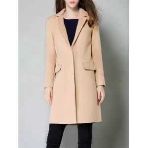 Single Breasted Lapel Cashmere Coat