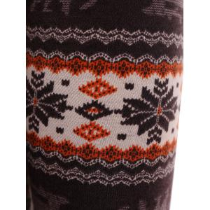 Snowflake Patterned Christmas Leggings -