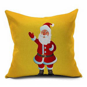 Pillow Cover Cartoon Santa Claus Home Decoration - Yellow - M