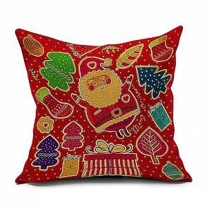 Festive Santa Claus Cushion Throw Pillow Case