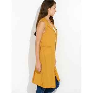 Duster Sleeveless Vest Knit Cardigan - EARTHY XL
