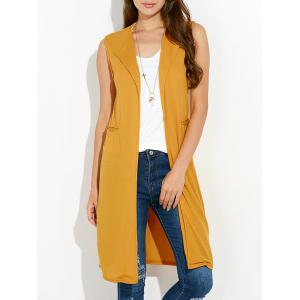 Duster Sleeveless Vest Knit Cardigan - Earthy - S