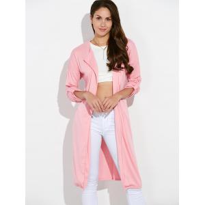 Streetwear Pockets Ruched Duster Long Cardigan -