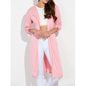 Streetwear Pockets Ruched Duster Long Cardigan
