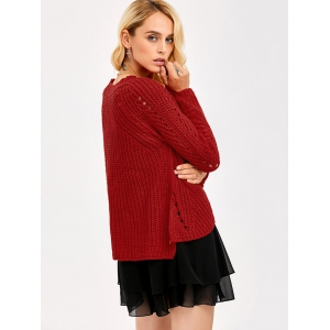 Hollow Out Insert Sweater -