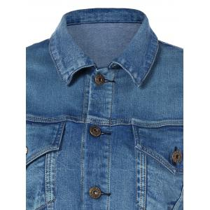 Pocket Star Appliques Denim Jacket -