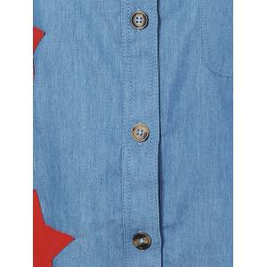 Star Appliques Pocket Denim Shirt -