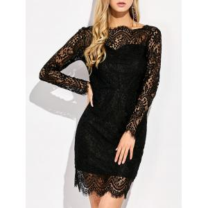 Sheer Backless Lace Bodycon Cocktail Short Prom Dress