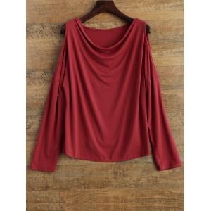 Cut Out Shoulder Long Sleeve T-Shirt