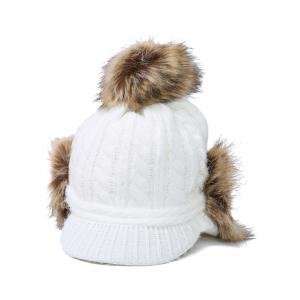 Pom Ball Hemp Flowers Hat with Earflaps -