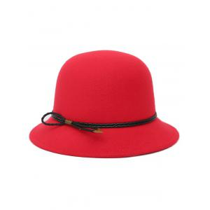 Winter PU Rope Arrow Dome Hat - RED