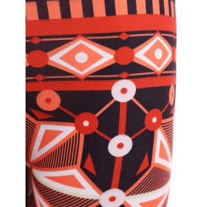 Ornate Geometric Print Stretchy Leggings -