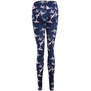 Abstract Bird Print Stretchy Leggings -