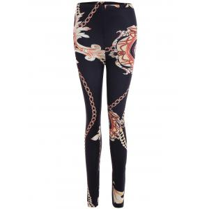 Chain Print Stretchy Slimming Leggings