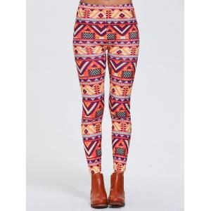 Geometric Print Stretchy Sports Leggings
