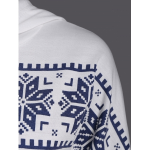 Snowflake Fawn Patterned Christmas Hoodie - WHITE XL