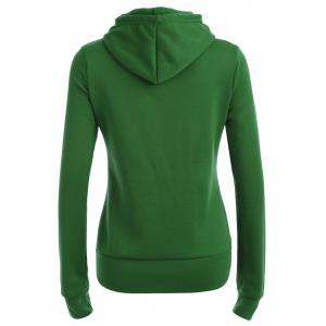 Pocket patché Sweat à capuche - Vert XL