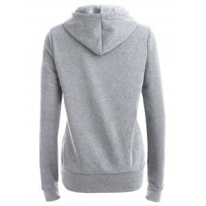 Pocket Patched Pullover Hoodie - LIGHT GRAY L