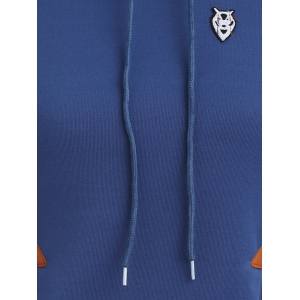 Pocket Patched Pullover Hoodie -