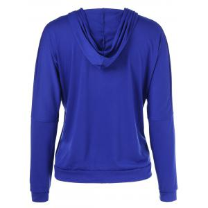 Hooded Graphic Hoodie - BLUE XL