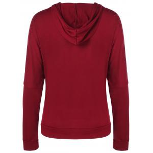 Hooded Graphic Fawn Hoodie - RED XL