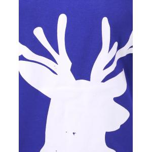 Hooded Christmas Fawn Hoodie - BLUE XL