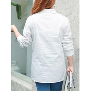 Plus Size Letter Character Printed Shirt -