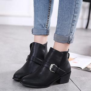 Double Buckle Ankle Vintage Boots -