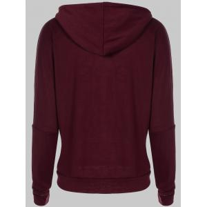 Letter Print Snow Pattern Plus Size Hoodie - DEEP RED 2XL