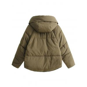 High Low Puffer Jacket -