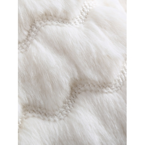 Scalloped Banded Faux Fur Coat -