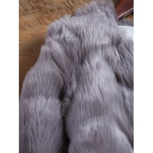 Waved Short Faux Mink Fur Coat -
