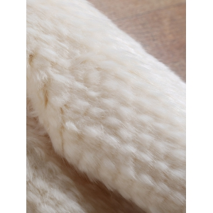 Knitted Short Faux Fur Coat -
