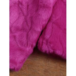 Cropped Faux Rabbit Fur Coat -